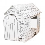 Kartónový domček malého umelca